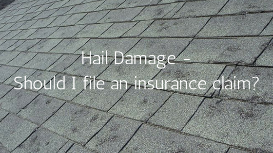 Hail Damage insurance claim Aurora