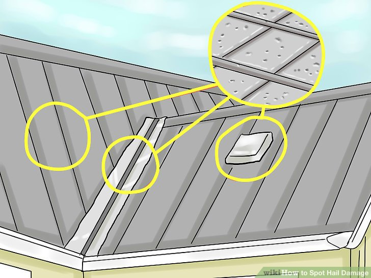 How to spot hail damage on a roof